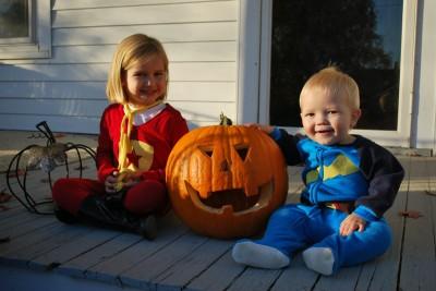 Meg and Calvin on Halloween